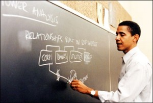 <b>Obama maps the levers of power