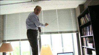 In this charming scene, professor John Mearscheimer clambers on top of his desk to raise his window shade, before climbing down to defend his book on the Israel Lobby and explain that he is not an anti-Semite, and does not have to search his soul to see whether he can deny this charge which is almost impossible to defend against