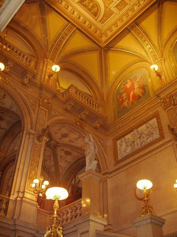 This is the ceiling of the Vienna Opera House, which might inspire thoughts of rising above materialism and feeding at the public trough in the leaders of HIV/AIDS next week, but on the other hand since opera is fiction it might only inspire them to greater flights of fancy which will pay off at the box office run by the NIH.