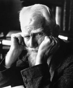 My name as you already perceive without a doubt is George Bernard Shaw, and I certainly approve of this blog, in that its guiding spirit appears to be blasphemous in regard to the High Church doctrines of science, and it flouts the censorship of the powers that be, and as I have famously remarked, all great truths begin as blasphemy, and the first duty of the truthteller is to fight censorship, and while I notice that its seriousness of purpose is often alleviated by a satirical irony which sometimes borders on the facetious, this is all to the good, for as I have also famously remarked, if you wish to be a dissenter, make certain that you frame your ideas in jest, otherwise they will seek to kill you.  My own method was always to take the utmost trouble to find the right thing to say, and then to say it with the utmost levity. (Photo by Alfred Eisenstaedt for Life magazine)