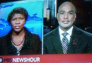Gwen Ifill and Phill Wilson are concerned at the Black AIDS epidemic in the US and are willing to say whatever NIAID says is necessary to defeat it