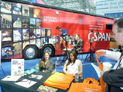 C-SPAN Book TV is an annual and impressive presence outside the ropes at every BEA to greet visitors