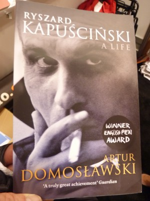 A prize offering at the Polish Cultural Institute wass Artur Domoslawksi's biography of the remarkable literary journalist Ryszard Kapuscinski: A Life